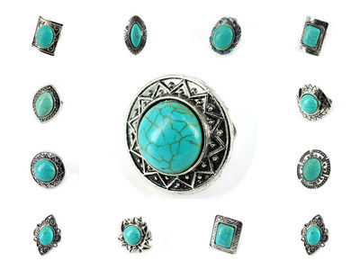 72 x Turquoise Rings #17