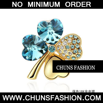 sea blue Blue Brooch Crystal Brooche