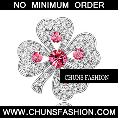 rose red Red Brooch Crystal Brooche