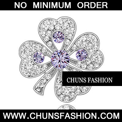 Violet Purple Brooch Crystal Brooche
