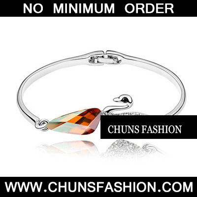 Amber Bangle Crystal Bracelet