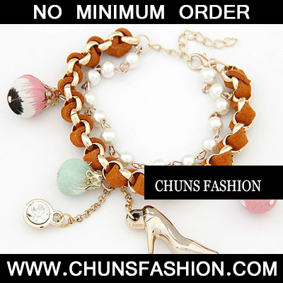 Orange High Heels Pendant Bracele