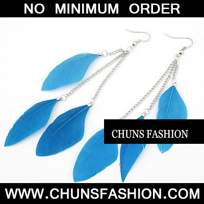 Skyblue Feather Charm Feather Earring