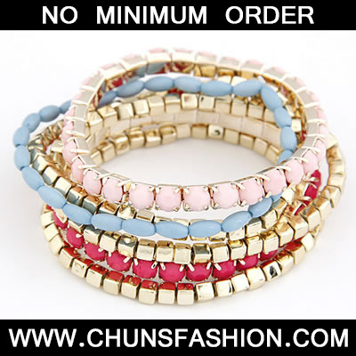 Pink Sweet Multilayer Bead Bracele