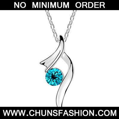 Blue Emantion Crystal Necklace