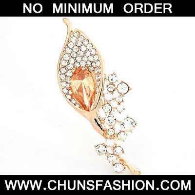 Yellow Brooch Crystal Brooche