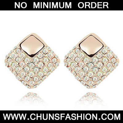 AB White Crystal Earring
