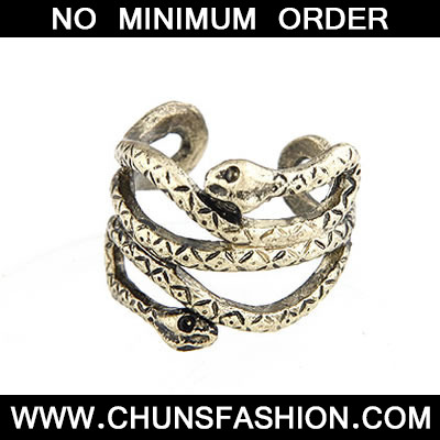 Bronze Luckly Snake Ring