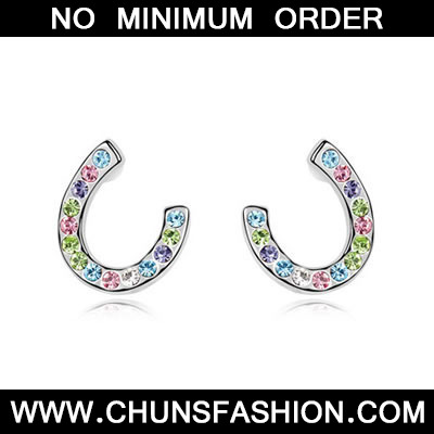 Multicolour Crystal Earring