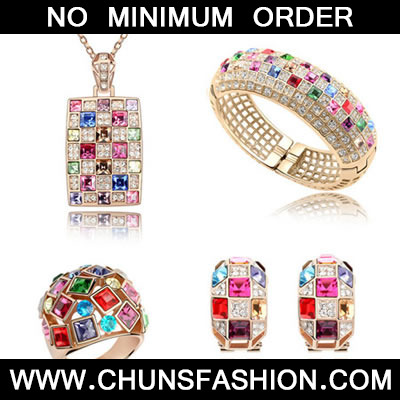 Multicolour Set Luxury Queen Crystal Set