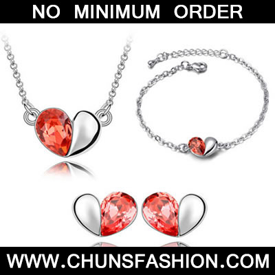 Padparadscha Jewelry Set Magic Words Crystal Set