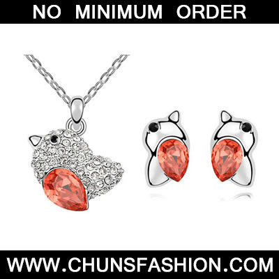 Padparadscha Set Lovebirds Crystal Set