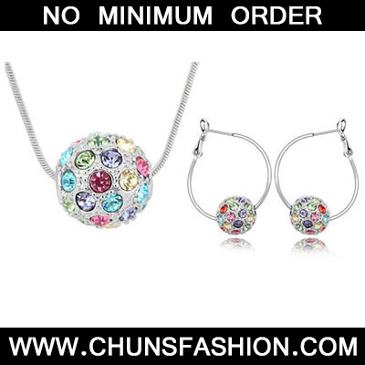 Multicolour Set Colorful Ball Crystal Set