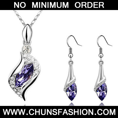 Purple Set Angel Crystal Set