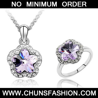 violet Set Plum Blossom Crystal Set
