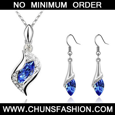 Blue Set Angel Crystal Set