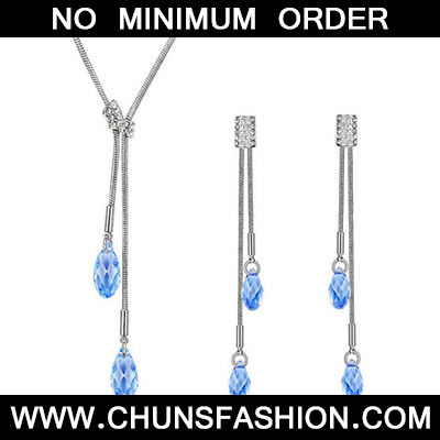 Blue Crystals Crystal Set