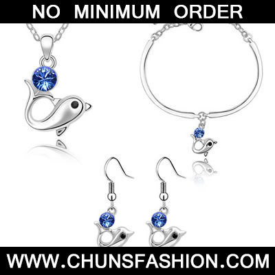Blue Set Dolphin Crystal Set