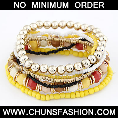 Multicolour Multilayer Bead Bracele