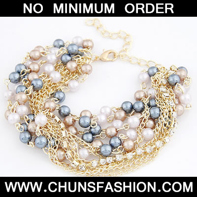 Multicolour Exquisite Multilayer Pearl Bracele
