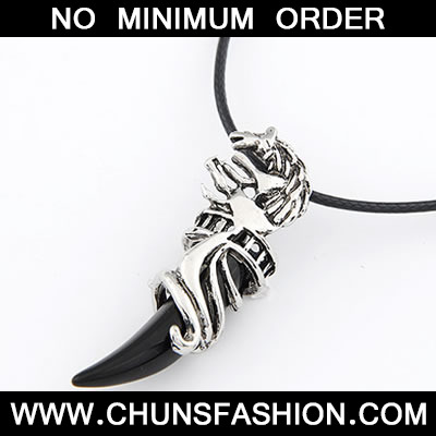 Black Wolf Necklace