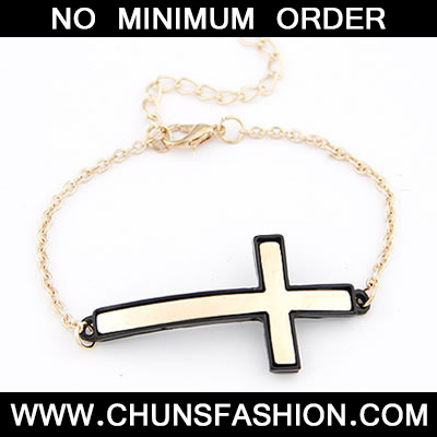 Black Personality Cross Bracele