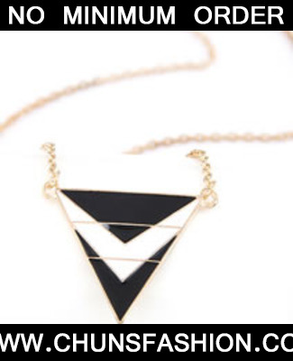 Black Matching Triangle Necklace