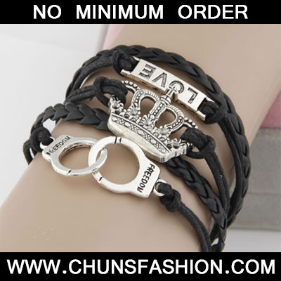 Black Personality Crown Bracele