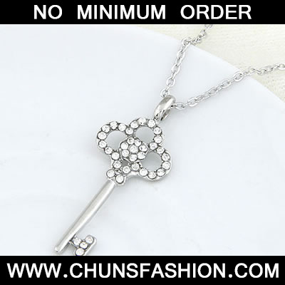 Silver Sweet Key Pendant Necklace