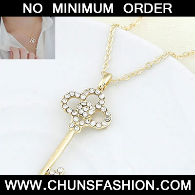 Golden Sweet Key Pendant Necklace