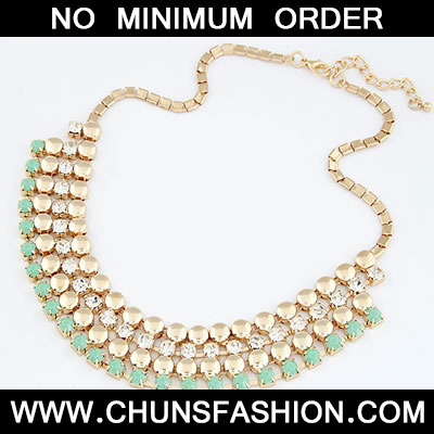 Green Gorgeous Elegant Short Style Necklace