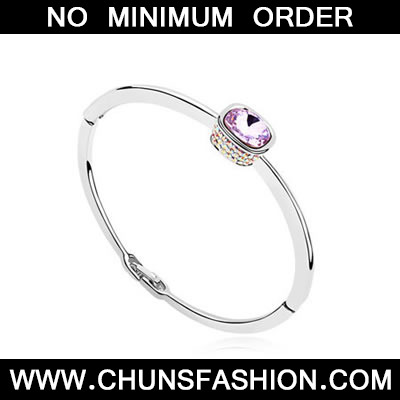 Purple Ellipse Austrian Crystal Bracelet