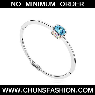Sea Blue Ellipse Austrian Crystal Bracelet