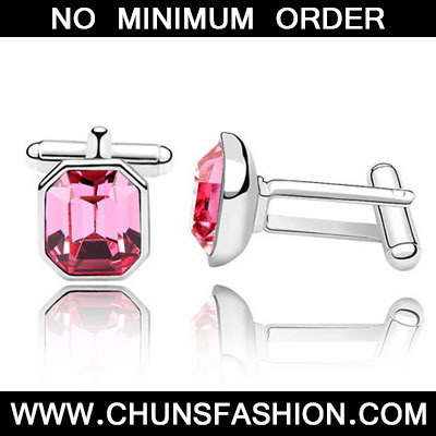 Plum Red Octagon Shape Austrian Crystal