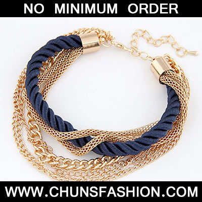 Navy Blue Luxury Multilayer Weave Bracele