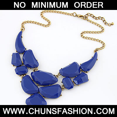 Blue Matching Luxury Jewel Necklace
