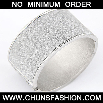 Silver Exaggerate Punk Wide Style Bangle