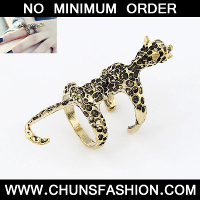 Bronze Vintage Leopard Style Ring