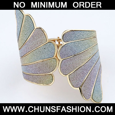 Gold Punk Wing Bangle