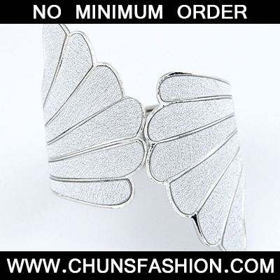 Silver Punk Wing Bangle