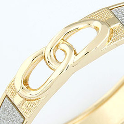 White Weave 8 Shape Bangle
