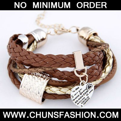 Brown Heart Multilayer Ccb Bracele