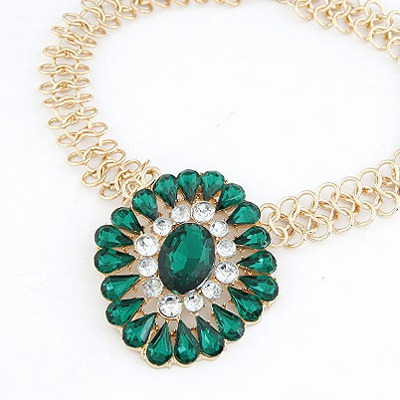 Green Drop Shape Necklace