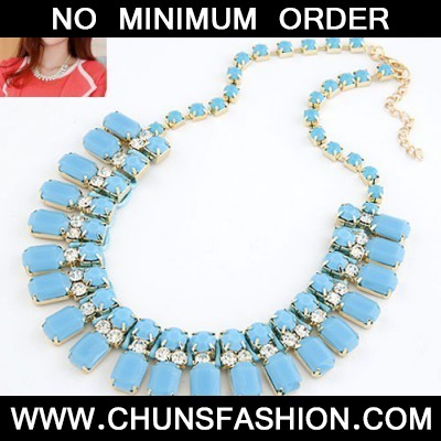 Blue Handwork Weave Necklace