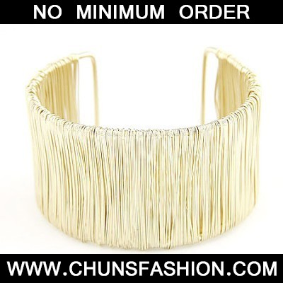 Size Gold Wide Open Bangle