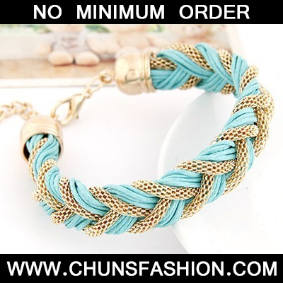 Light Blue Metal And Rope Weave