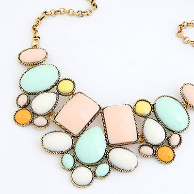 MultiVarious Of Geometric Shape Pendant Necklace
