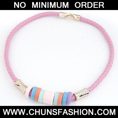 Pink Candy Circles CCB Necklace