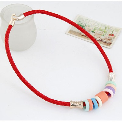 Red Candy Circles CCB Necklace