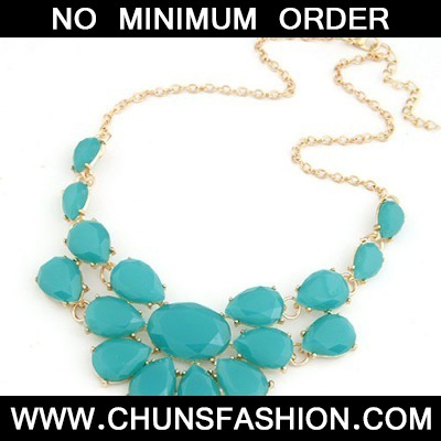 Blue Multilayer Water Drop Necklace